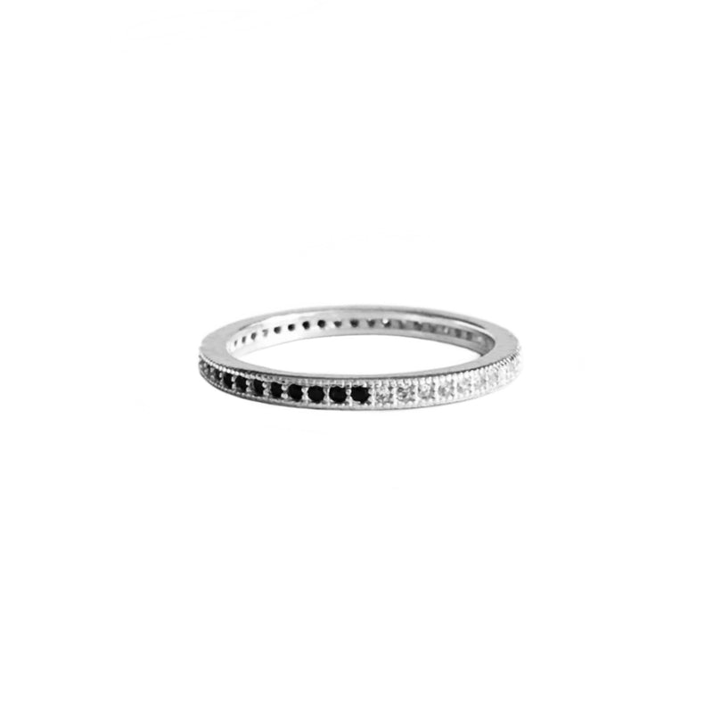 Black & Clear Pave Ring