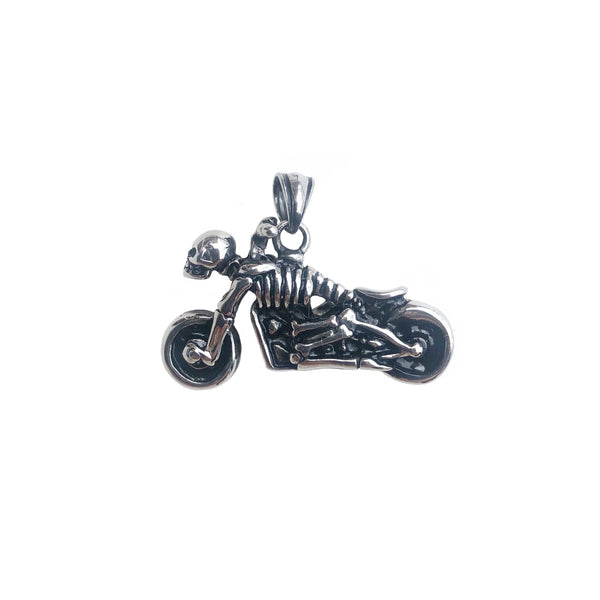 Motorcycle Pendant | Silver