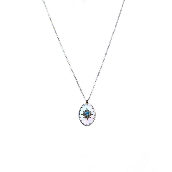 Mother of Pearl Supernova Necklace | Silver