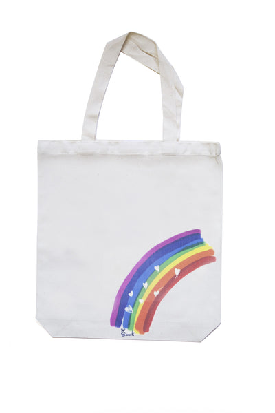 Rainbow Hearts Eco Bag