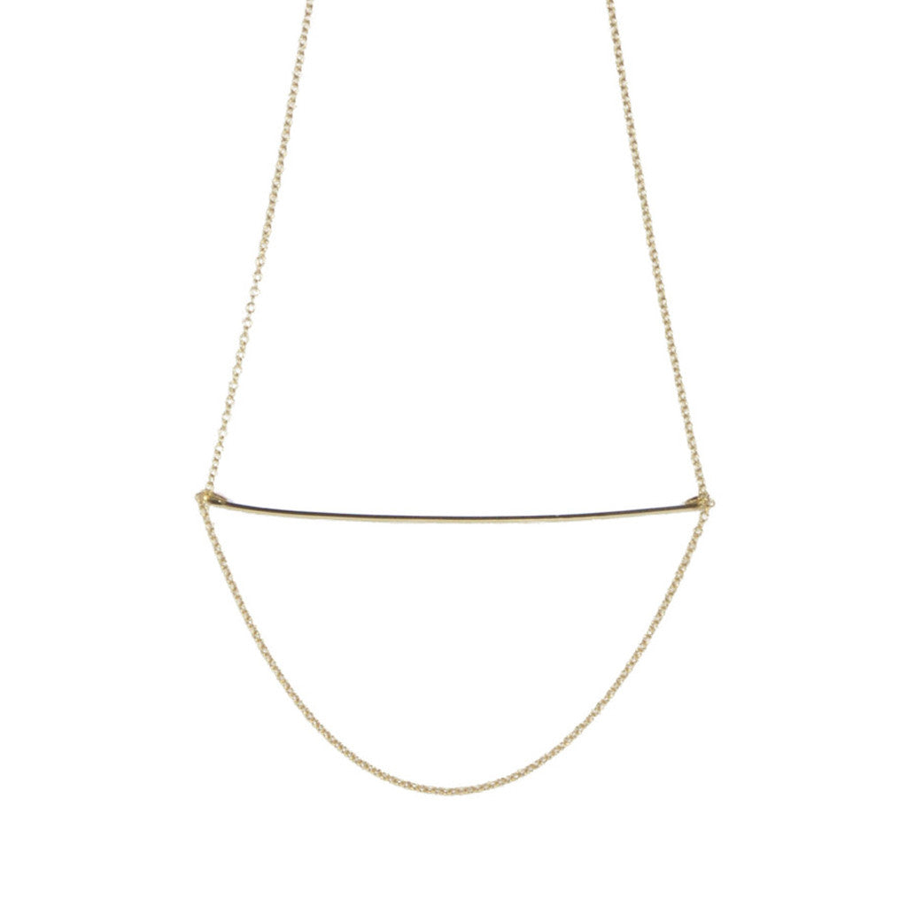 Wire Drop Chain Necklace | 14K Gold Filled