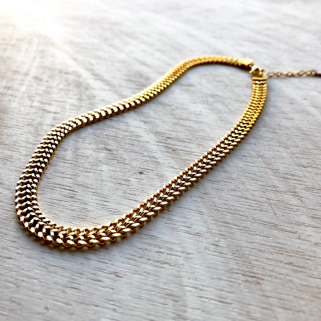 Knitted Gold Chain