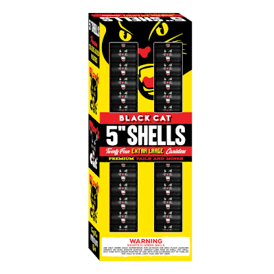 "Black Cat 5"" Canister Shells 24s"