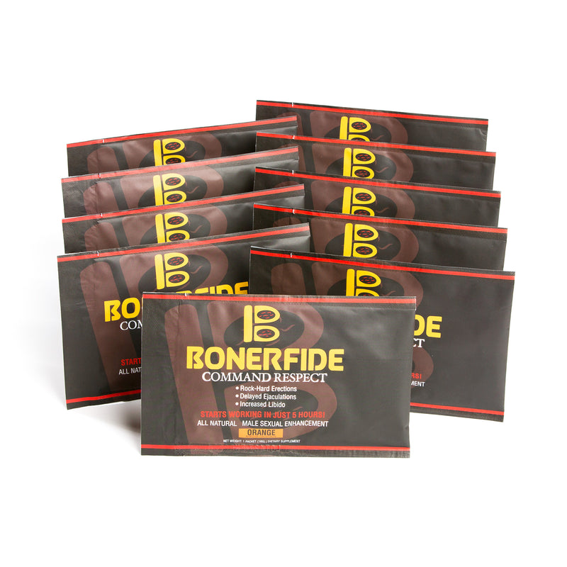 Bonerfide 10-Pack. Male Sexual Enhancement. Designed to significantly enhance your sexual performance. Effective for ED (Erectile Dysfunction).  All-Natural. - CertNutri