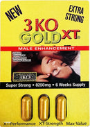 3KO GOLD XT 8250 mg Male Sexual Enhancement 100% Authentic Cartridge - CertNutri