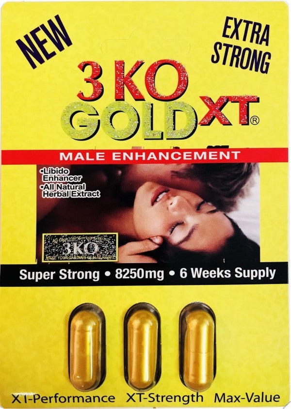 3KO GOLD XT 8250 mg Male Sexual Enhancement 100% Authentic Cartridge
