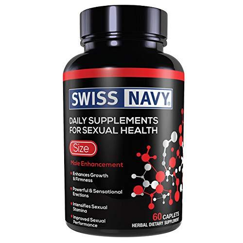 Swiss Navy Size Penis Hard Erection,Longer Sex, Sexual Male Enhancement 60 Pills - CertNutri