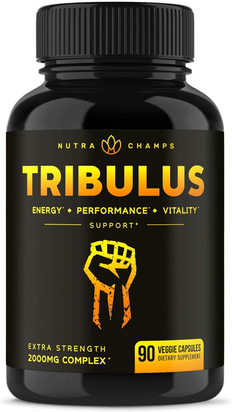 Tribulus Terrestris 2000mg Supplement [Extra Strength] 45% Steroidal Saponins - Enhanced Absorption with Maca Powder & Black Pepper Extract - Tribulus
