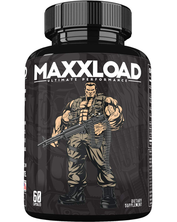 MAXXLOAD Ultimate Male Pills (60 Capsules) Enlargement Booster for Men - Increase Energy, Mood, Size & Endurance - All Natural Performance Enhancing Supplement - 1 Month Supply - CertNutri