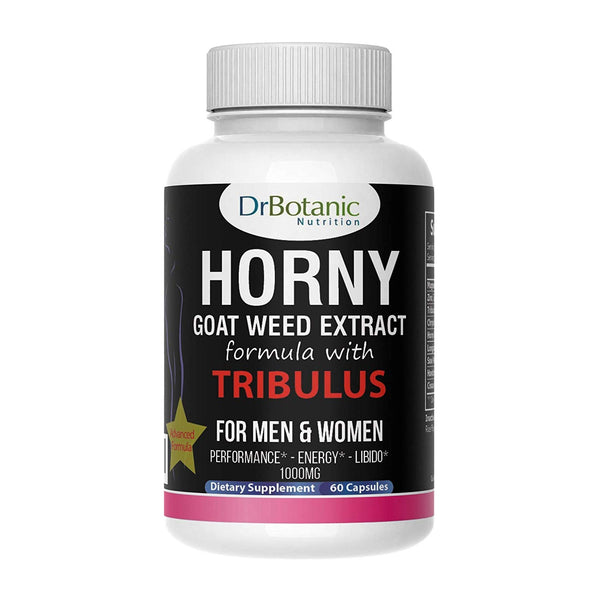 DrBotanic Nutrition Male & Female Performance Booster with Horny Goat Weed Extract and Tribulus Terrestris-60 Caps