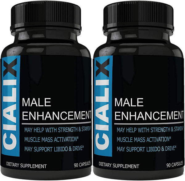 Cialix Male Enhancement Supplement - Male Enhancing Pills for Men (Dietary Supplement - 180 Caps - 2 Month Supply)
