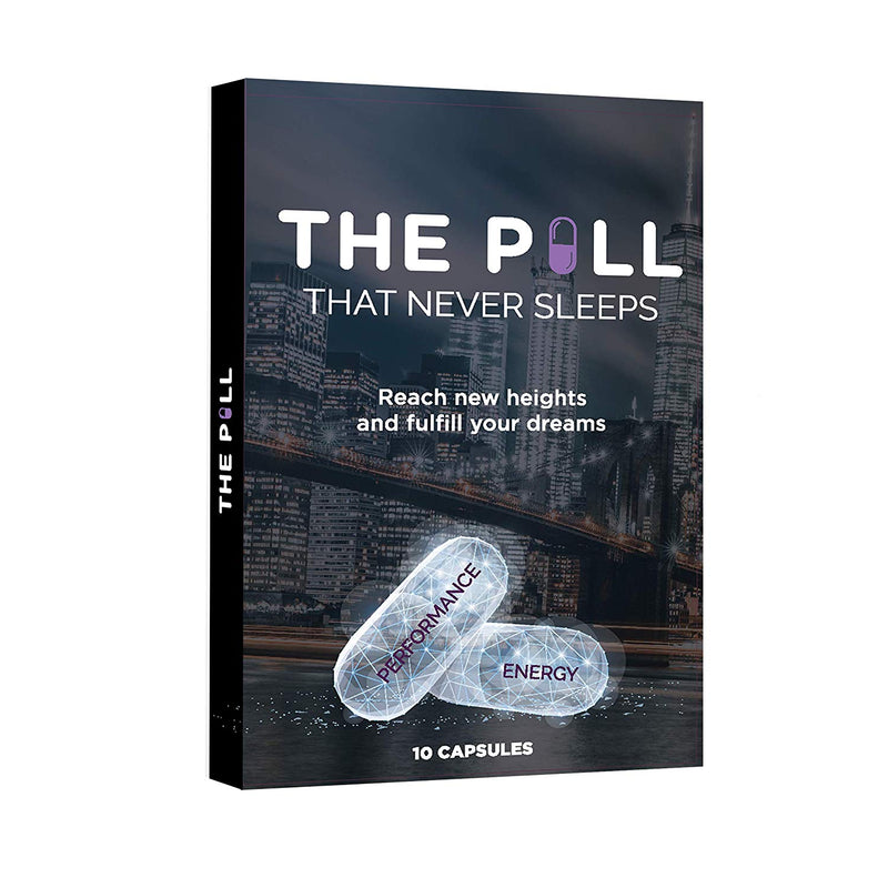 THE PILL That Never Sleeps, Fast Acting Male Amplifier for Strength, Performance, Energy, and Endurance, 10 Capsules