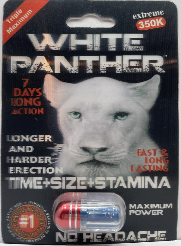 White Panther EXTREME 350K Male Sexual Enhancement pill WHOLESALE