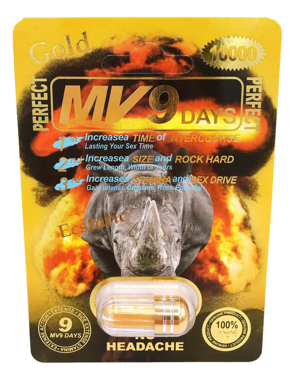 MV9 GOLD 10000 Male Sexual Enhancement. Lasts 9 days. WHOLESALE