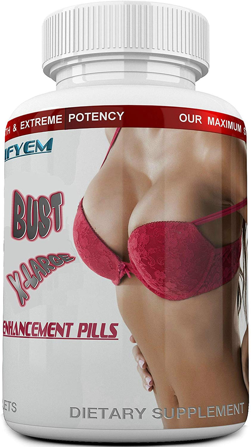 BUST X-LARGE  Breast Enlargement Pills, Breast Enhancer, Bust Enhancement Pills - Enjoy Larger, Fuller, Firmer Breasts. (Not a Breast Cream).