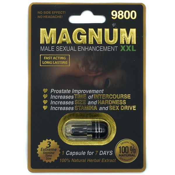 MAGNUM Black XXL 9800 Male Enhancement Pills 100% ORIGINAL - CertNutri
