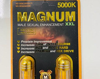 MAGNUM 5000 Double-Pill Pack Male Enhancement Strong Effective 100% ORIGINAL 2 PILLS