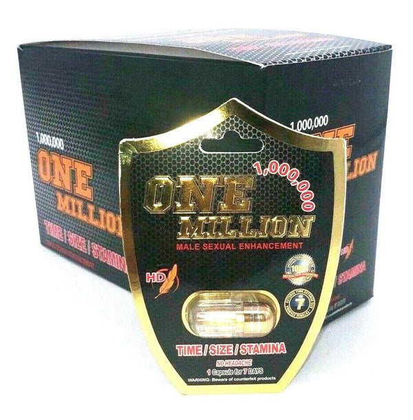 ONE-MILLION Premium Maximum Male Enhancement Pills ED - ERECTION GUARANTEED 826792205269 - CertNutri