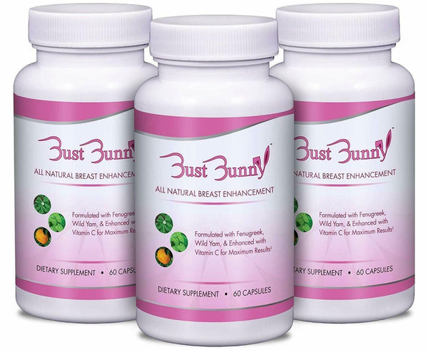 Bust Bunny Breast Enhancement Pills w/ Vitamin C 3 Month Supply Enlarge Breast 748252879936 - CertNutri