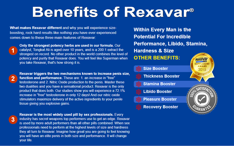 REXAVAR MALE ENHANCEMENT SUPPLEMENT 100% AUTHENTIC 1 BOTTLE