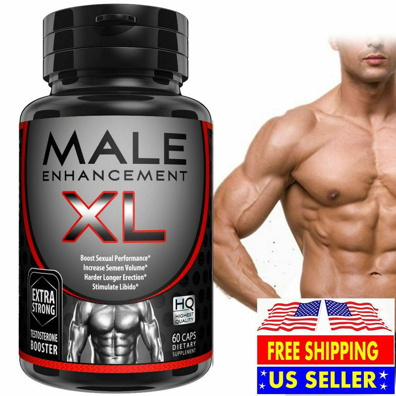 MALE ENHANCEMENT XL THICKER LONGER BIGGER MAX GIRTH DICK ENLARGEMENT 60 PILLS 613894199424 - CertNutri