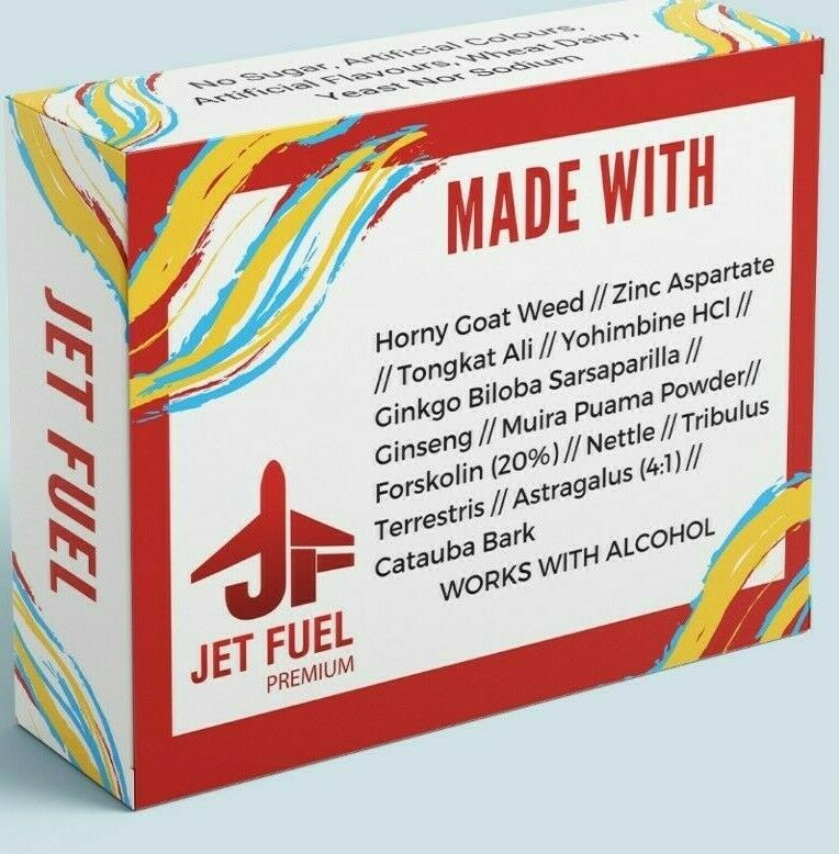 Jet Fuel Male Enhancement Super Charged Formula 10 Pills - CertNutri