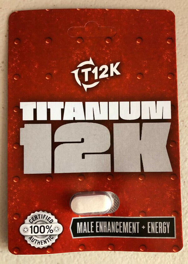 Titanium 12K Male enhancement + Energy - all natural supplement - CertNutri