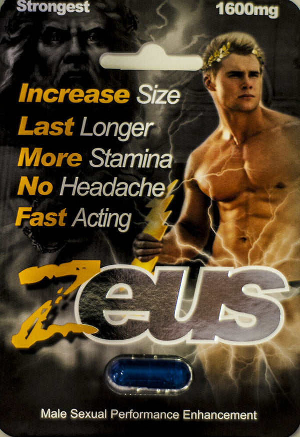 Zeus 1600mg Strongest Male Sexual Performance Enhancement Pill, Original Pills