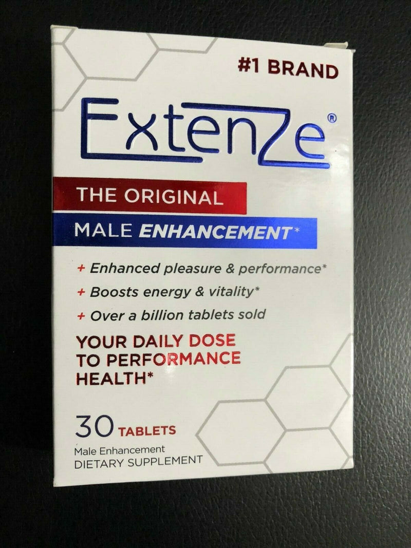 Extenze Original Formula Male Enhancement Dietary Supplement 30 tablets AUG '20 - CertNutri