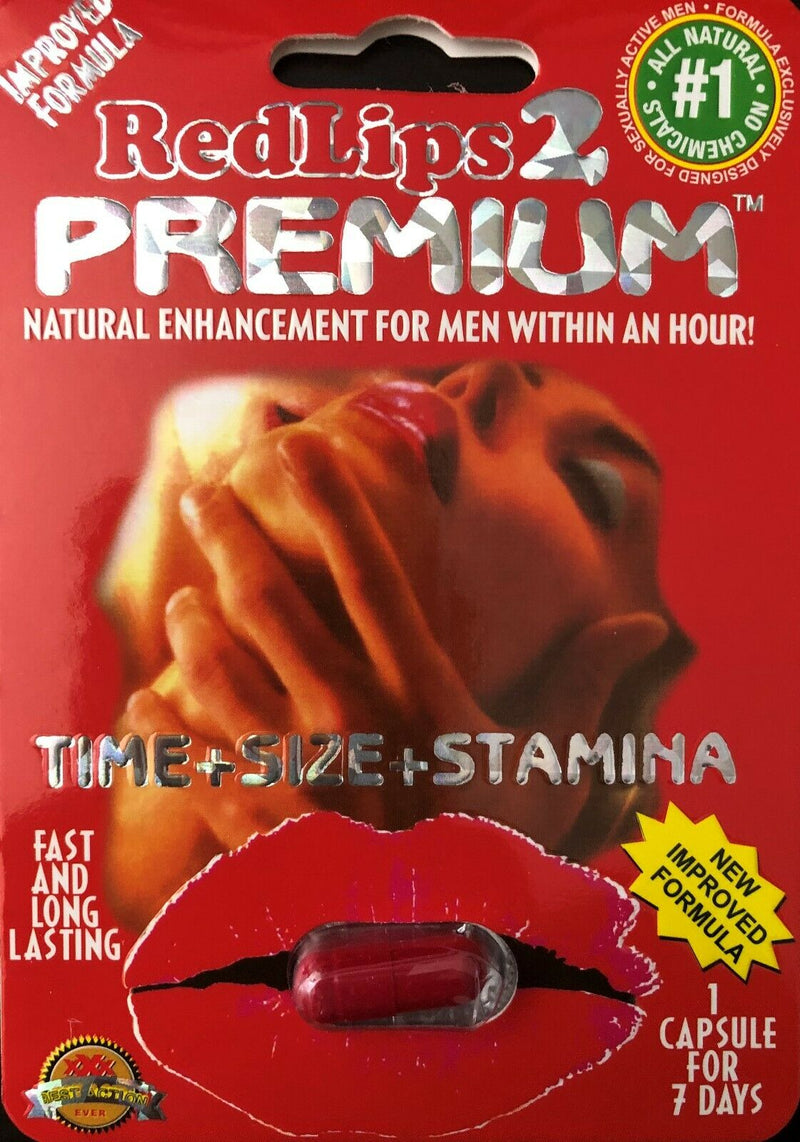 Red Lips 2 Premium - Male Sexual Enhancement supplements Pills - 100% Authentic - CertNutri
