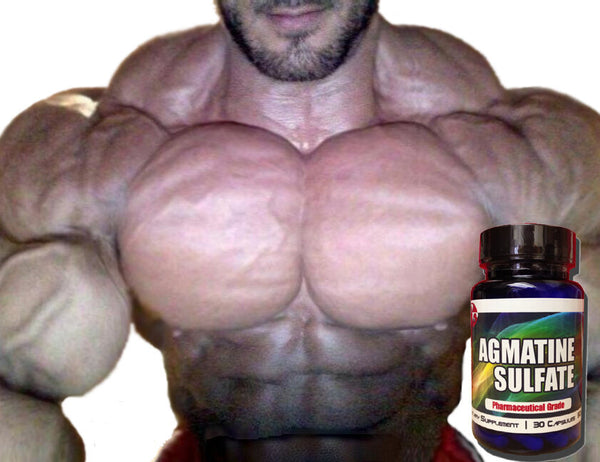 AGMATINE SULFATE Nitric Oxide HUGE PUMPS Bodybuilding PRE Workout Supplements !! 753807152556