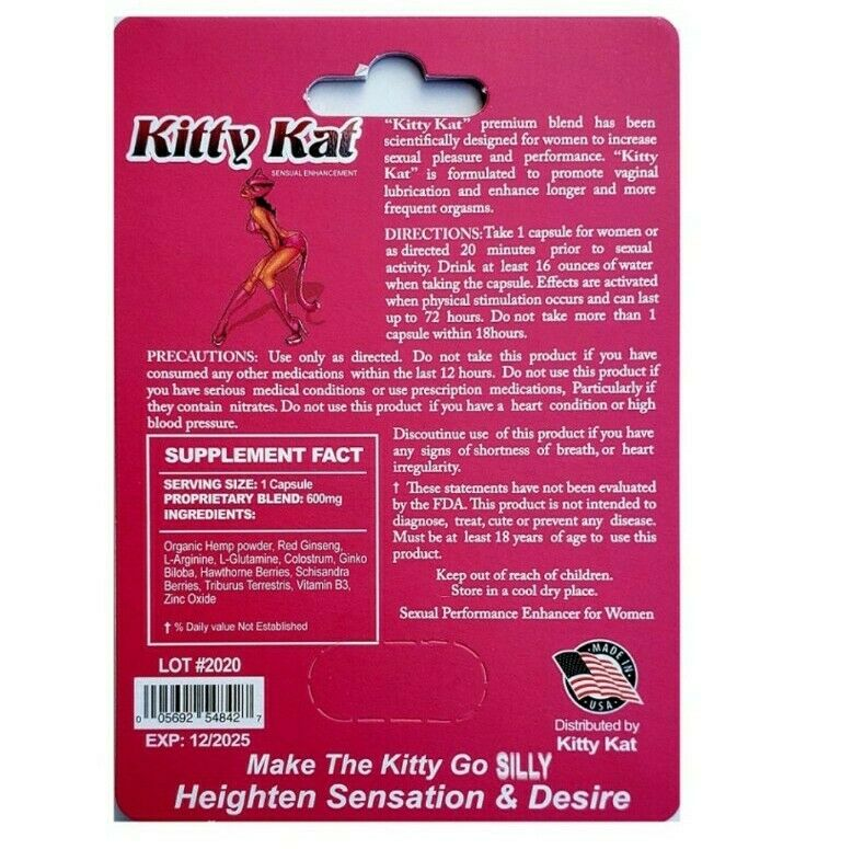 The Kitty Kat Pill female sexual enhancement by Kitty Kat, single count