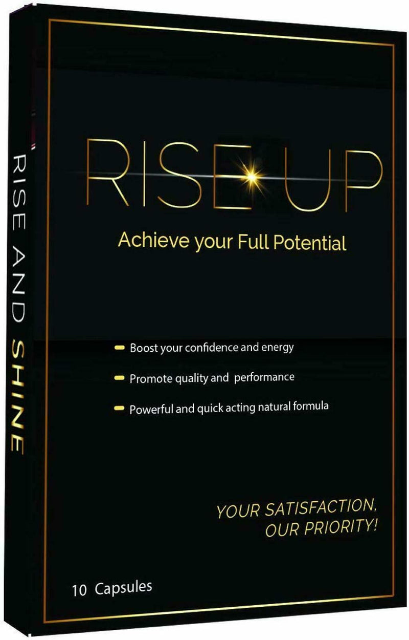 Rise Up, Natural Male Effective Amplifier for Strength, Energy, Pills, 10-Pack 848998003333
