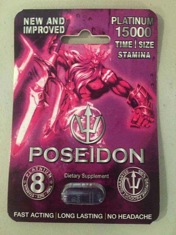 POSEIDON PLATINUM 15000 MALE SEXUAL ENHANCEMENT SUPPLEMENT