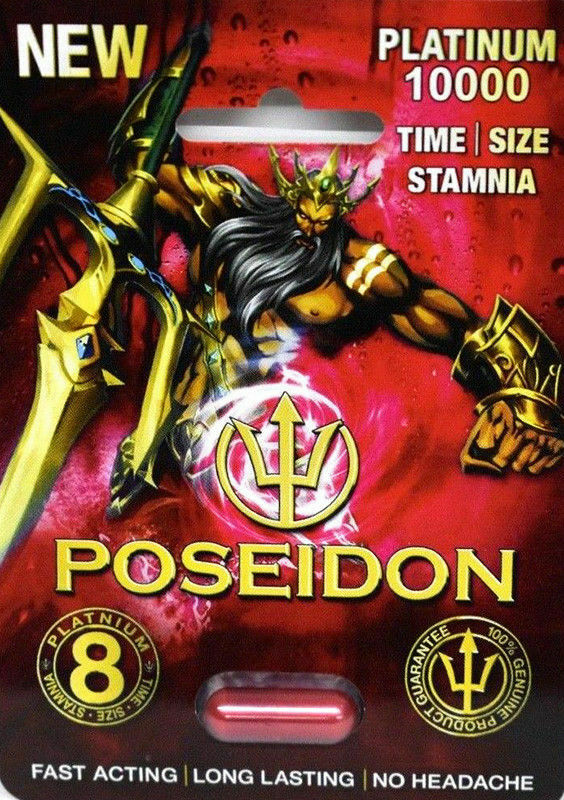 POSEIDON PLATINUM 10000 Red MALE SEXUAL ENHANCEMENT SUPPLEMENT