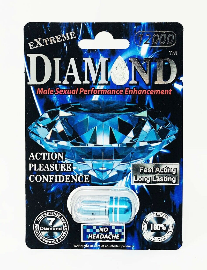 Diamond Extreme 12000 Power Male Sexual Enhancement Pill All Natural - CertNutri