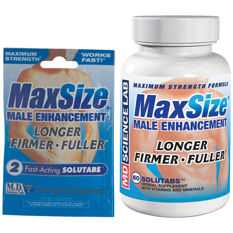 Max Size Male Enhancement Erection Pills - Choose Amount