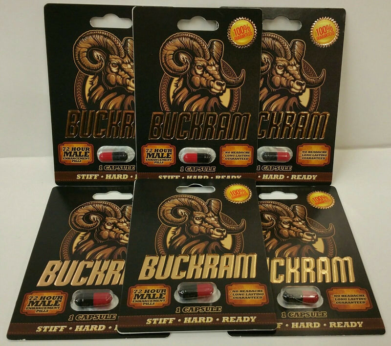 BUCKRAM! Male Enhancement 72 Hour Formula Hard,Stiff,Rock,Erect,SEX!