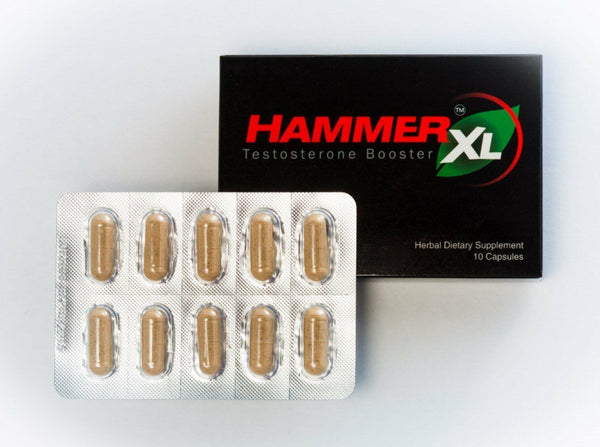 Hammer XL Natural Testosterone Booster Sexual Male Enhancement Erection 10 Pills 748252887733 - CertNutri