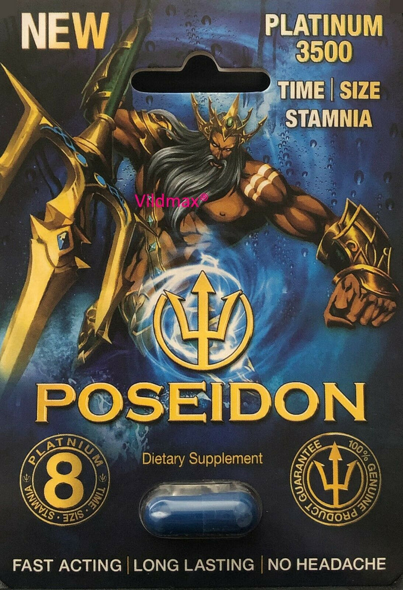 Poseidon Platinum - Male Sexual Enhancement supplements Pills - 100% Authentic - CertNutri