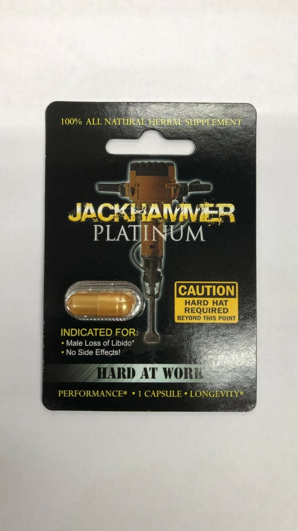 JACK HAMMER PLATINUM 100% Genuine - Male Sexual Enhancement 30656615402 - CertNutri
