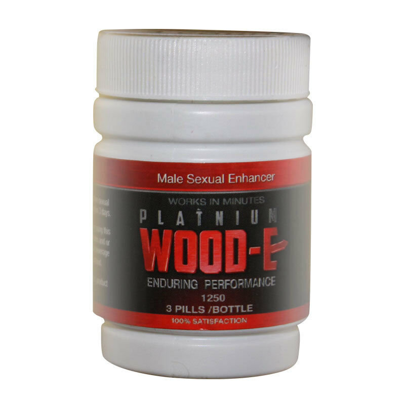 Platinum Wood-E Male Sexual Enhancer Supplement - 3 Pill Bottle 94922263827