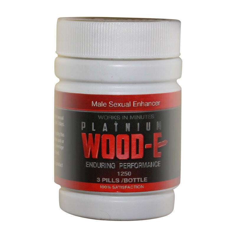 Platinum Wood-E Male Sexual Enhancer Supplement - 3 Pill Bottle 94922263827 - CertNutri
