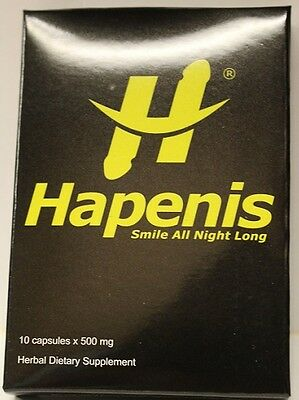 HAPENIS, The STRONGEST MALE ENHANCEMENT PILL (RED PILL) 4 pill pack 688295456049 - CertNutri