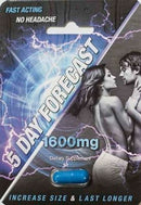 5 Day Forecast 1600 mg Male Sexual Enhancement Supplement Authentic pill - CertNutri
