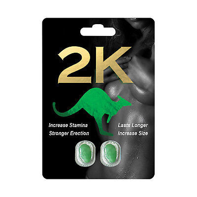 Kangaroo Green 2K for Men Sexual Supplement Enhancement Pills 692193802815 - CertNutri