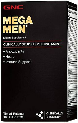 GNC Mega Men Sport Multi Vitamin, 180 Count - NEW WHOLESALE