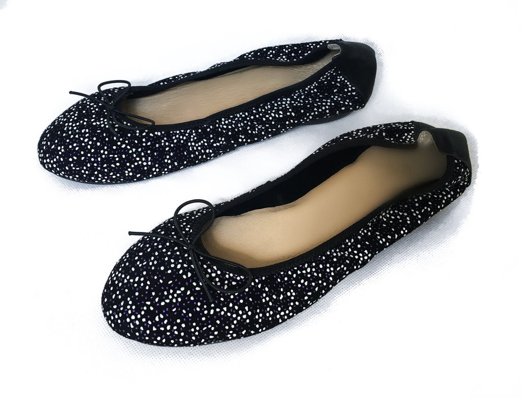 BUTTERSOFT ROLLIE JIFFY FLATS [STARRY BLACK]