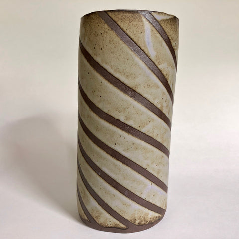 Striped Utensil Jar - Oona ceramics
