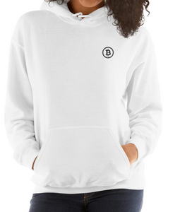 Embroidered Hooded Sweatshirt - Bitcoin
